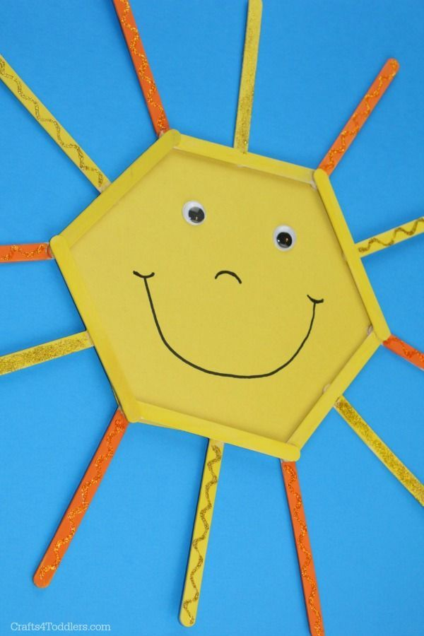 This Popsicle Stick Sun Craft For Kids Is So Easy And Fun