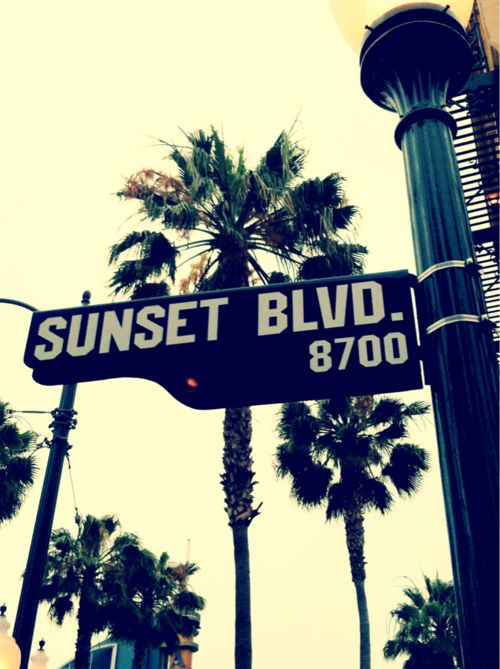 Sunset Blvd. (Taking a picture of the Street Signs in the area that you're visiting. This makes great memories for your photo albums!)