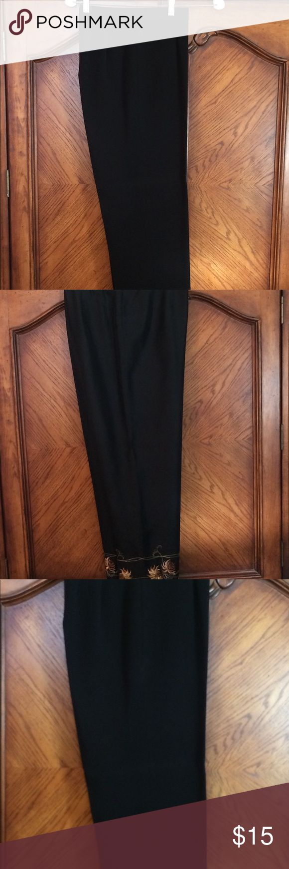 Women's size 8 slacks Rafaela size 8, black dress pants. These are great for the office or a nice evening out Rafaella Pants Trousers