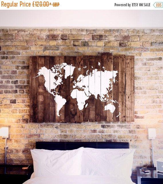 AUF Verkauf Welt Karte Holz – zurückgefordert Pal…