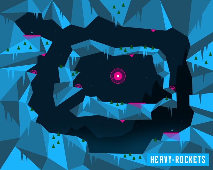 Game map design http://www.heavyrockets.com  iOS indie game. Cave shooter game for iPhone, iPad and Mac.