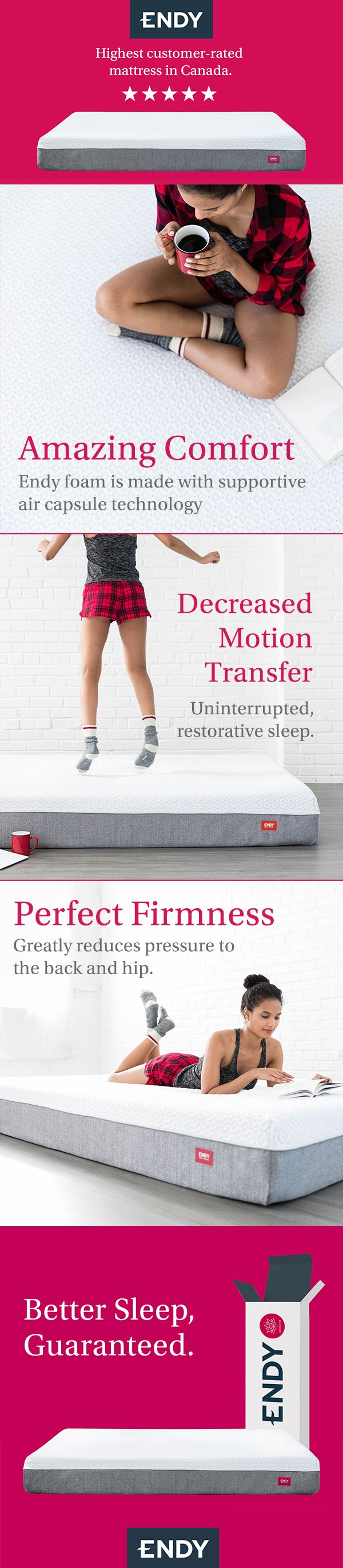 Unbox The Endy Mattress. Better Sleep, Guaranteed.