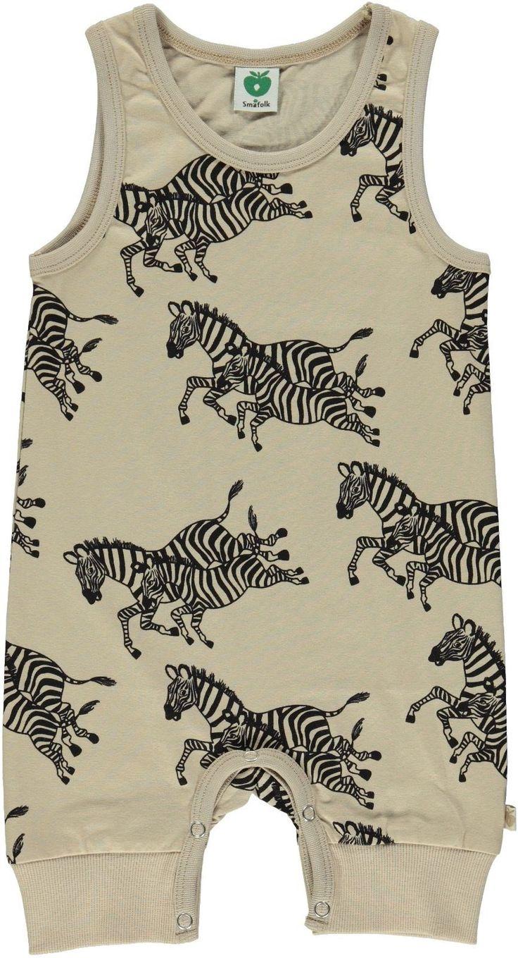 Smafolk jumpsuit zomer zebra - Vrolijke kinderkleding van het Deense merk Smafolk
