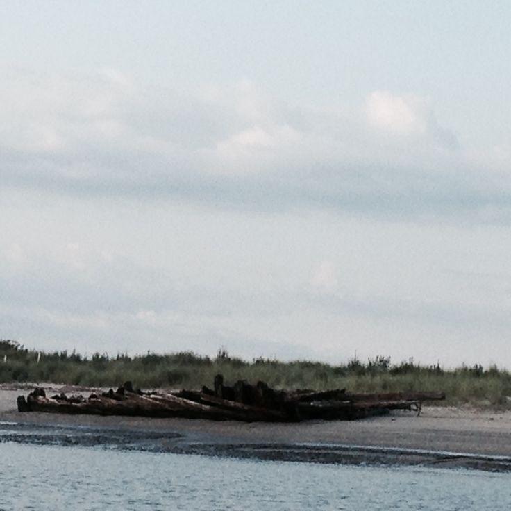 Plum Island Beach: Shipwreck At Beach Plum Island National Wildlife Refuge At