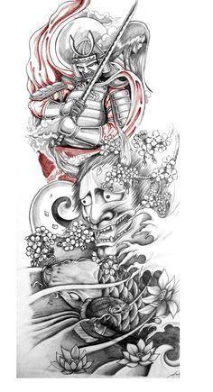 Imagini Pentru Tatuaje Manga Samurai En Negro