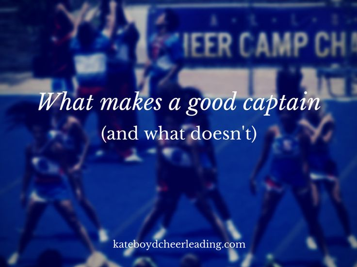 When I was a cheerleader in high school, I desperately wanted to be the captain. At that time, we had to write essays and have an interview with the principal ... and I remember that I took an unco...