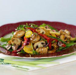 Stirfried mushrooms