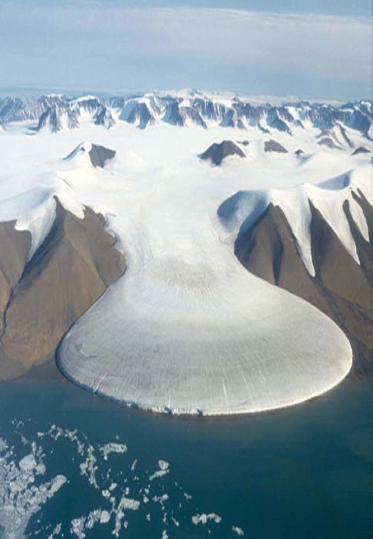 The Elephant Foot Glacier on the coast of Greenland.