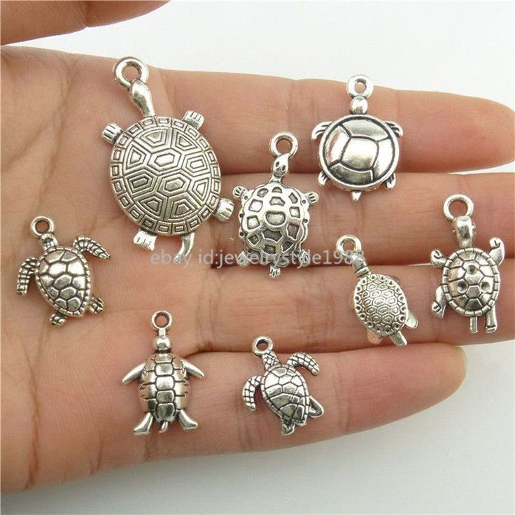 2set=16pcs Alloy Ocean Sea Turtle Tortoise Charms Pendant Jewelry Antique Silver in Jewelry & Watches, Fashion Jewelry, Necklaces & Pendants | eBay