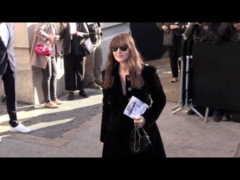 Monica Bellucci, Anouchka Delon and more arriving for the Chanel Ready to Wear Fashion Show - YouTube