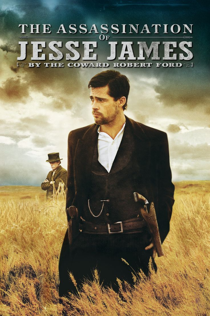 The Assassination of Jesse James By the Coward Robert Ford Movie Poster - Brad Pitt, Casey Affleck, Sam Shepard  #BradPitt, #CaseyAffleck, #SamShepard, #AndrewDominik, #Drama, #Art, #Film, #Movie, #Poster