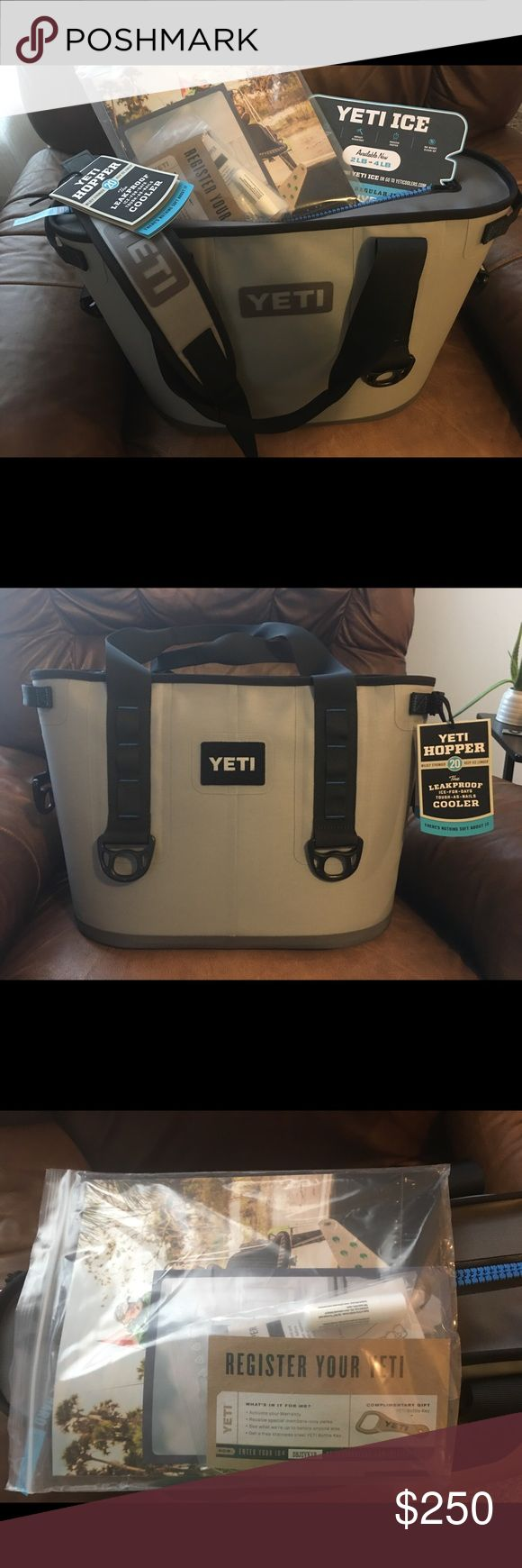 NWT Yeti Cooler NWT, perfect for the summer at the lake, ball games, camping, etc. Has all tags, paper work (including registration papers). It's leak proof as well, very durable!!!! Yeti Hopper20 Yeti Other