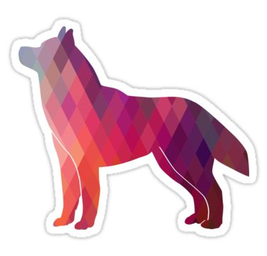 Siberian Husky Colorful Geometric Pattern Silhouette - Breed Collection  by TriPodDogDesign