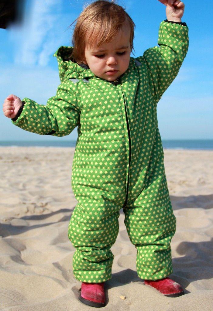 Baby Winteroverall Thermoanzug Snowsuit Funky Green Sterne Ducksday | Heldenkind