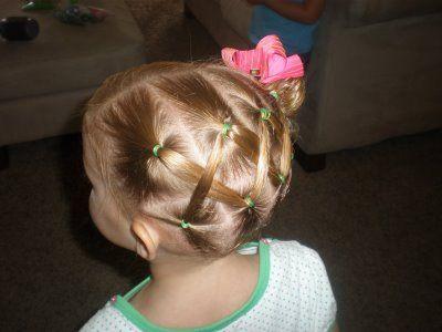Fun little girl hairstyle