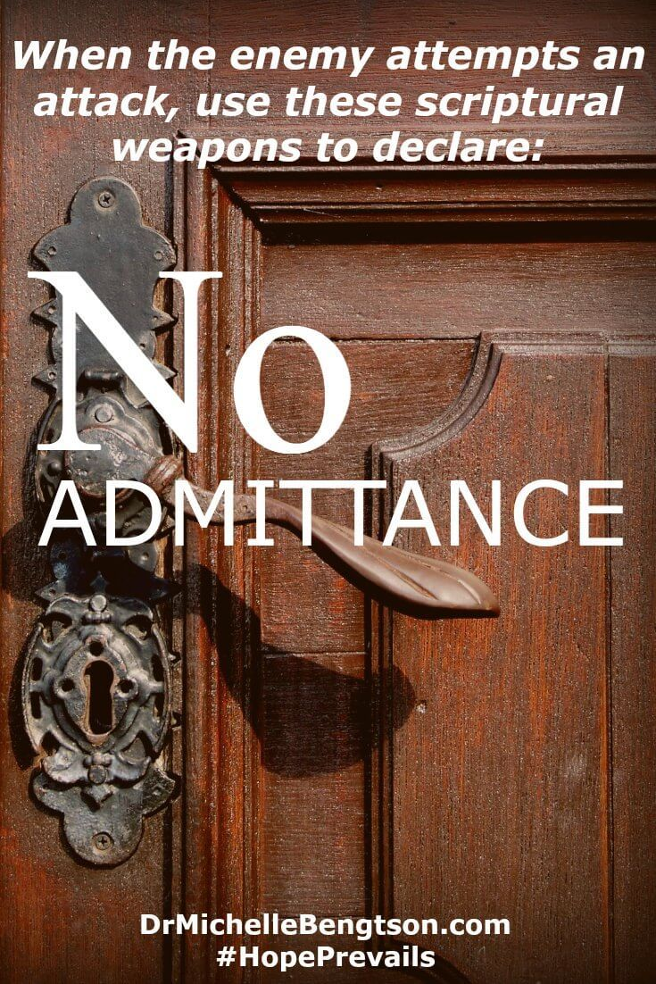 """Just as we lock our doors and declare """"No Admittance,"""" be vigilant about discerning where thoughts come from. Bar the door of minds and hearts against thoughts inconsistent with God's truth."""