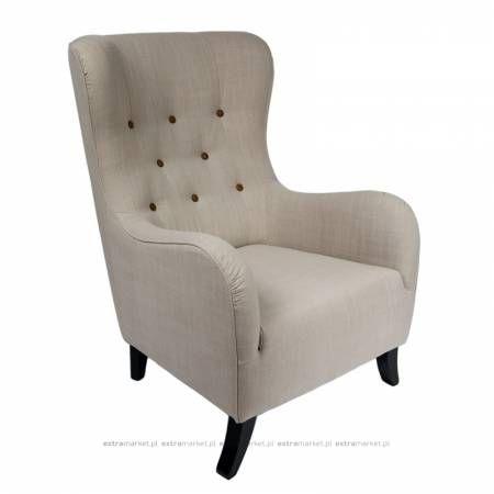 Fotel z tkaniny lnianej
