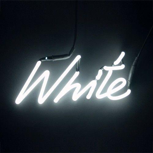 Neon Colour Word Lamp - White