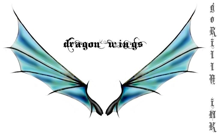 Dragon Wings by ~goRillA-iNK on deviantART... I do want wings on my back eventually; Dragon wings would be even more my style...