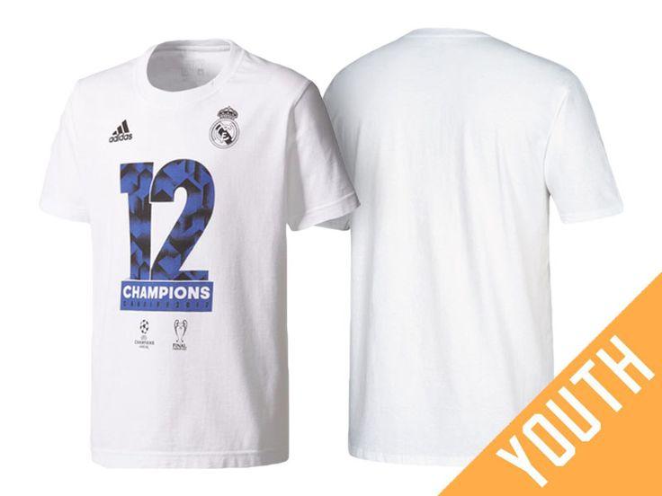 bce732e80 ... isco - Spain Soccer Real Madrid White Youth UEFA Champions League  Winners 2017 T-Shirt ...