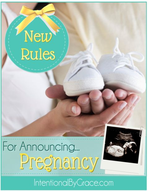 Did you know there were rules for announcing pregnancy? I love this perspective on when to announce to the world you're expecting!