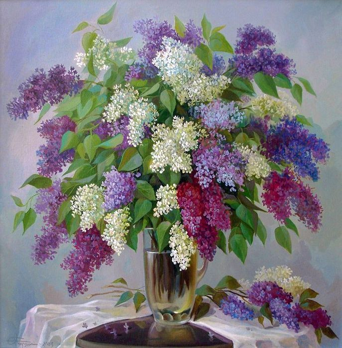 Lilacs. Anyone know the artist?