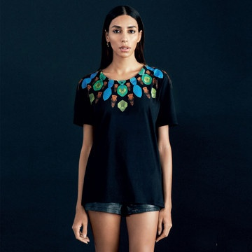 Marcelo Burlon: Jade Basic T-shirt Black