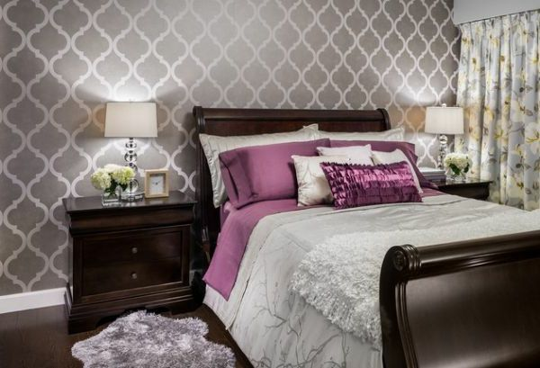 Coole Tapeten F?r Schlafzimmer : Gray Bedroom Color Scheme