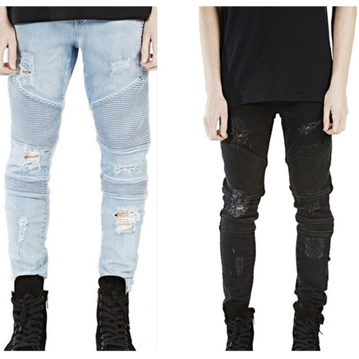 hip-hop Men Jeans Casual Denim distressed Men's Slim Jeans pants Biker jeans skinny rock ripped jeans homme plus size 28-38 man cave * This is an AliExpress affiliate pin.  Find out more on AliExpress website by clicking the VISIT button