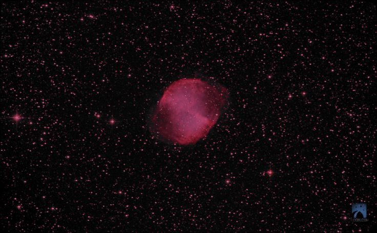 Dumbbell Nebula,M27 in the Constellation of Vulpecula through the Canary Islands 20''