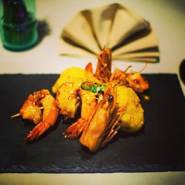 Jumbo Shrimps cocked in Indian Healthy style food only in The Gang!