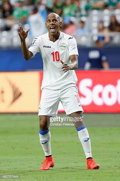 Ariel Martinez of Cuba reacts during the 2015 CONCACAF Gold Cup group C match against Trinidad Tobago at University of Phoenix Stadium on July 12...