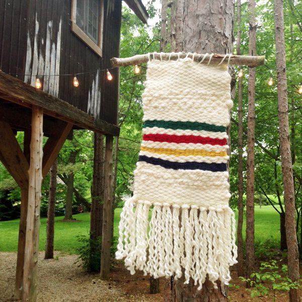 Hudson Bay Stripes DIY Handmade rustic Wool Yarn weaving