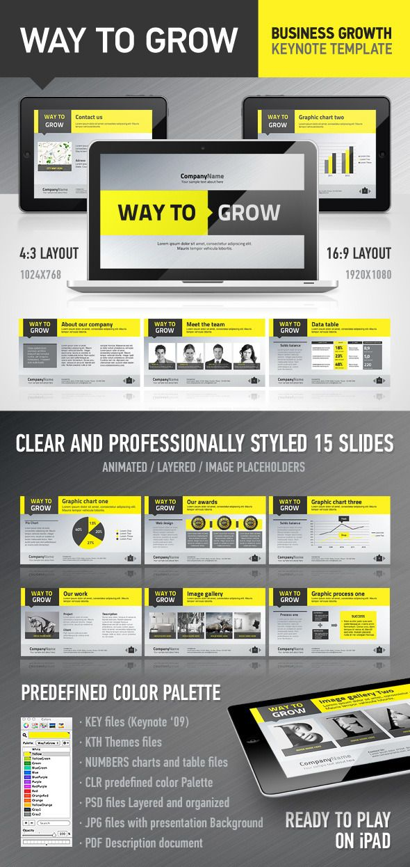 WayToGrow Keynote Template - Business Keynote Template. Download here: http://graphicriver.net/item/waytogrow-keynote-template/1734438?s_rank=879&ref=yinkira