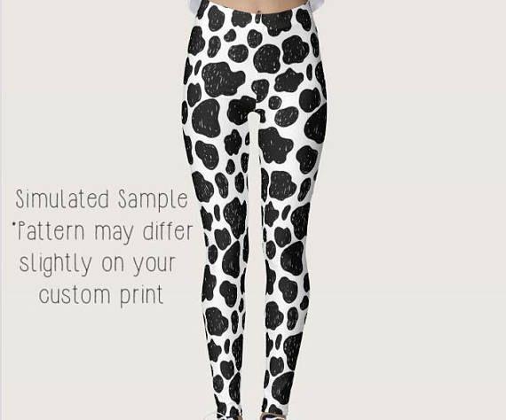 027c98893a4638 Cow Print Leggings, Custom Prints, Yoga Pants, farm, country, farmer,  farming, milk, homestead, Dairy, cattle, utter, livestock -XS-XL Cows1