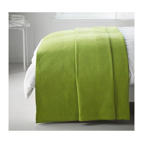 INDIRA Bedspread, bright green bright green 59x98