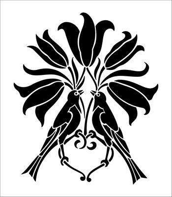 Motif No 35 stencil from The Stencil Library ARTS AND CRAFTS range. Buy stencils online. Stencil code DE143.