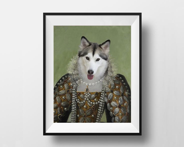 Queen Elizabeth I - Royal Pet Portrait - Digital File - Instant Download Printable by dasfolDesign on Etsy