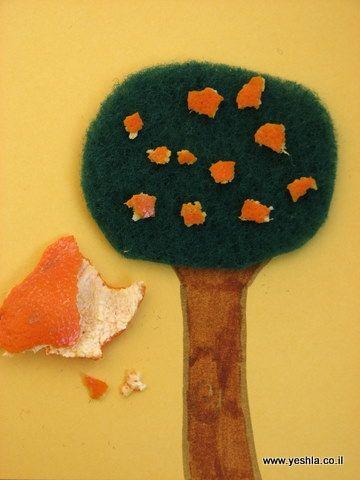 יצירה של עץ מקליפות פרי הדר   ישלה