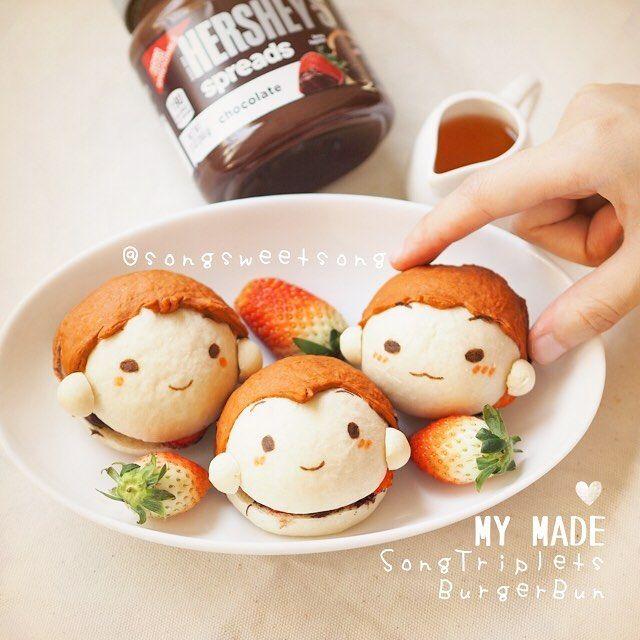 Song Triplets Deahan Minguk Manse Choco Strawberry Burger Bun