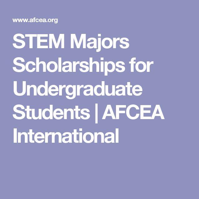 STEM Majors Scholarships for Undergraduate Students | AFCEA International