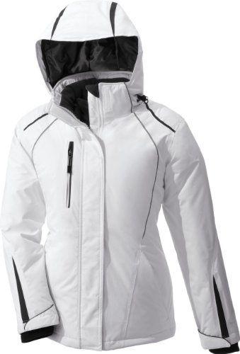 North End Ladies Altitude Seam Sealed Insulated Jacket. 78652 - Medium - White / Black Silk