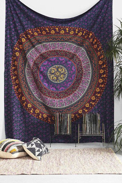 Cushion Covers – Indian Bedspread, Mandala Tapestry, Bed Sheet – a unique product by IndianCraftPalace on DaWanda