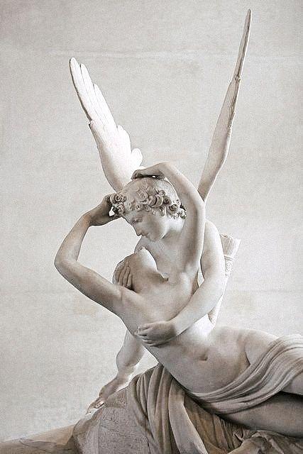 templeofapelles:  Antonio Canova Cupid & Psyche  The Louvre, Paris