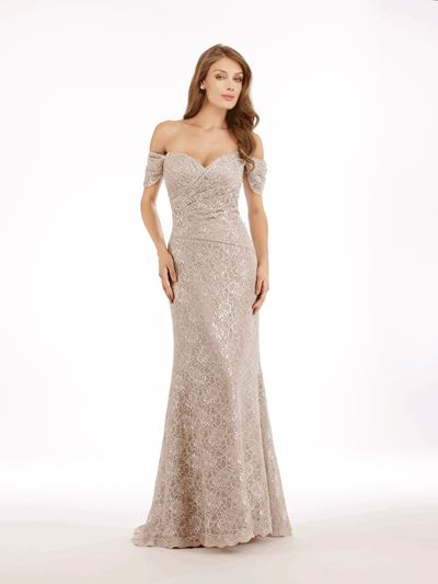 LACE GOWN WITH SHAWL