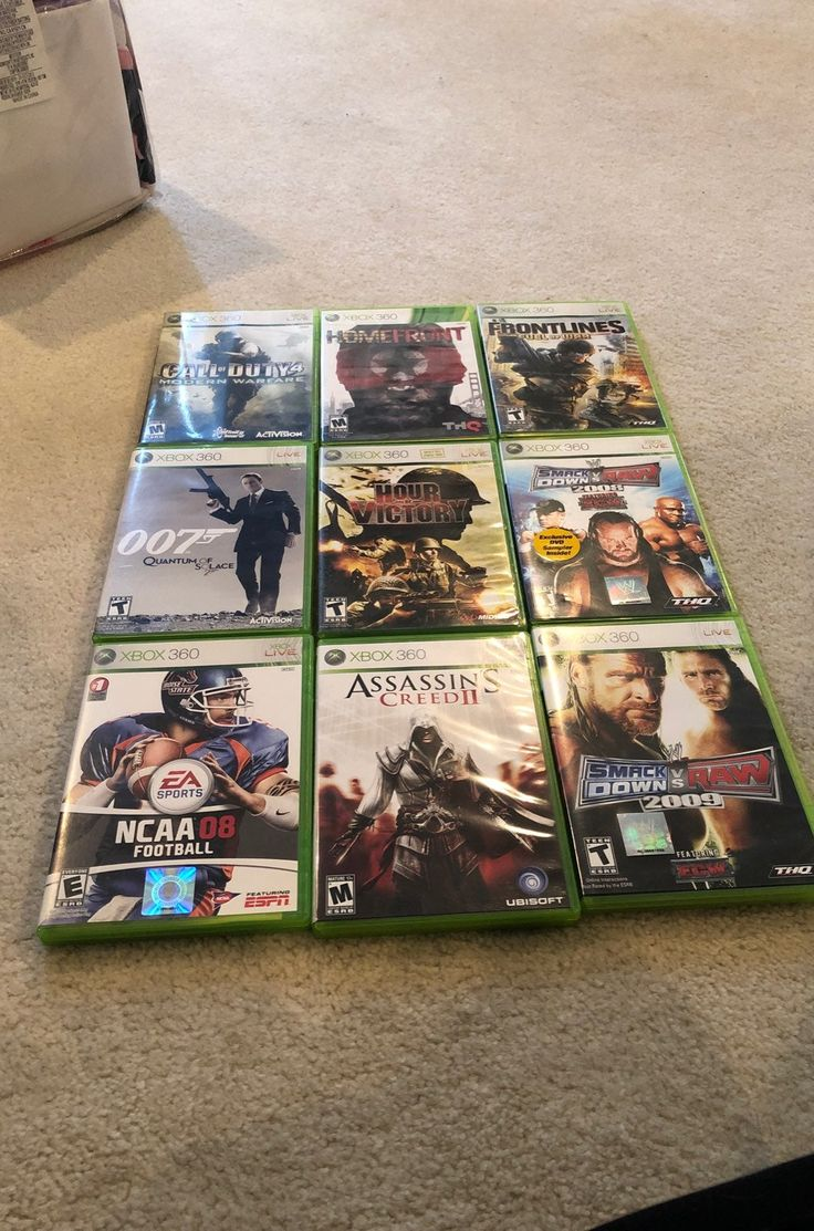 9 Xbox 360 Games In Excellent Condition No Scratches On Discs