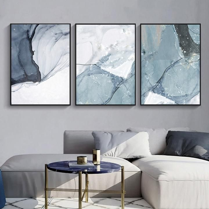 Abstract Blue Black Slate Grey Marble Wall Art Posters Fine Art Canvas Prints In 2020 Wall Art Pictures Marble Wall Fine Arts Posters