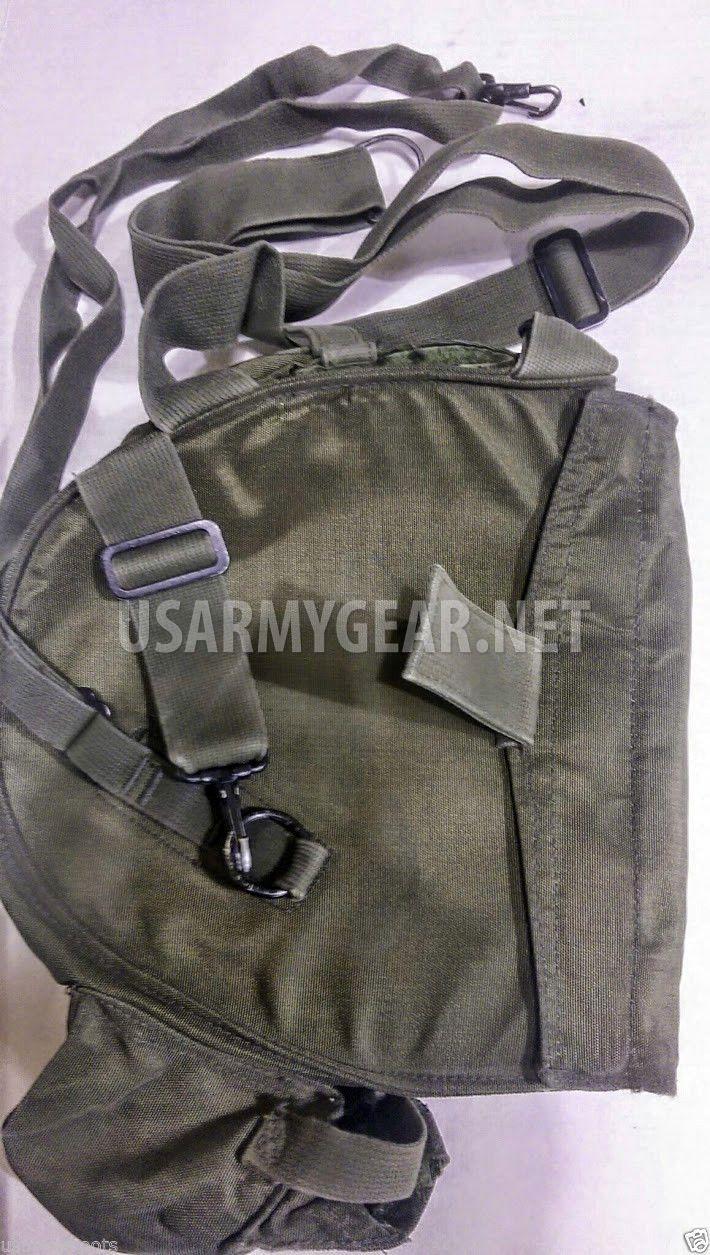 3 Pcs. of Made in USA USGI M40 Gas Mask Bag, Carrier with Shoulder Straps