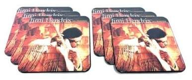 Jimi Hendrix Live at Woodstock Coasters (Set of 6). Jimi Hendrix Live at Woodstock Album cover printed coaster. A perfect gift for fans of the guitarist or classic rock music. #JimiHendrix #albumcover #drinkcoaster #coasters #drinkware #giftideas #guitargreat #classicrock #woodstock #ad