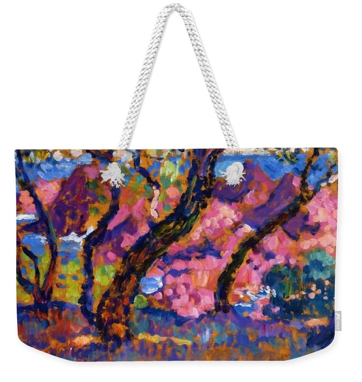 In Weekender Tote Bag featuring the painting In The Shade Of The Pines Study 1905 by Rysselberghe Theo van